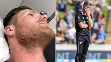 'Don't reverse sweep up into your own face': James Neesham after injuring himself against India A