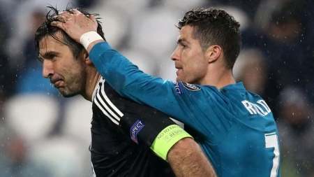 Gianluigi Buffon reveals what he had asked Cristiano Ronaldo after overhead goal