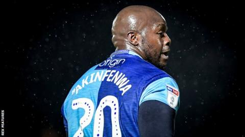Adebayo Akinfenwa: Wycombe striker says he was racially abused in play-off tie