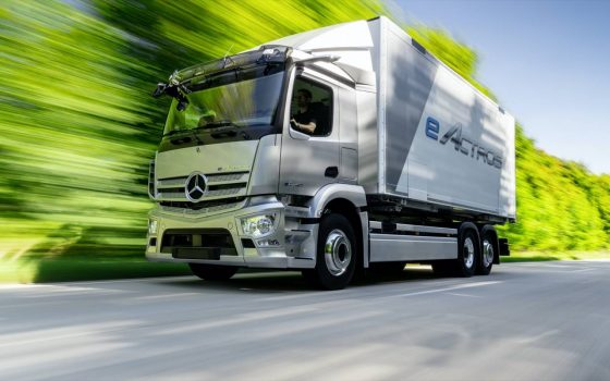 Mercedes reveals electric and fuel-cell trucks for its green haulage roadmap<span class=
