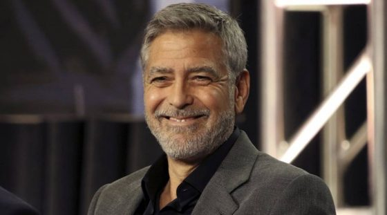 George Clooney's tip to slicing his hair<span class=