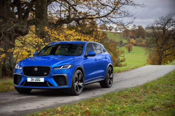 2021 Jaguar F-Pace SVR debuts with some-more torque, combined speed, and improved refinement<span class=