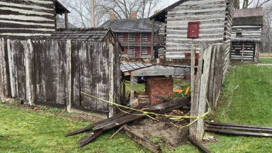 Historic Fort badly damaged when car hits it<span class=