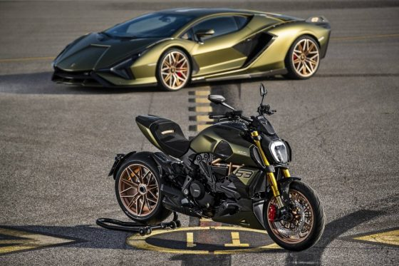 Lamborghini and Ducati have combined a cruiser bike desirous by a Sian hypercar<span class=