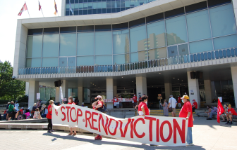 Residents of Montreal apartment building fight 'renoviction,' take protest to their balconies No ratings yet.