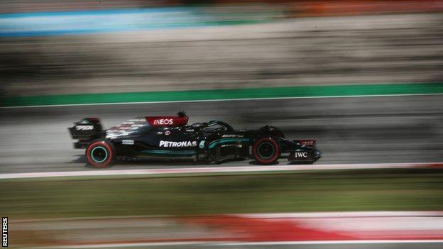 Hamilton leads Mercedes one-two in second practice for Spanish GP