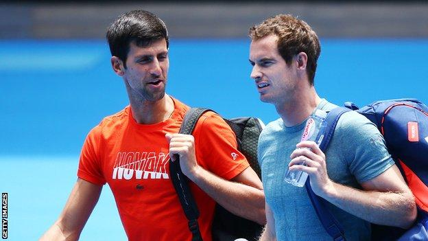 Murray to practise with Djokovic and hopes to be fit for French Open No ratings yet.