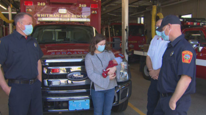 'Very unique experience.' Firefighters help deliver a baby boy No ratings yet.